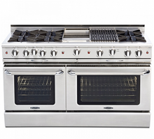 "Capital CGSR604G4 Culinarian 60"" Self Clean Gas Range 8 Open Burners With 4.9 Cu. Ft. Convection Oven + 12"" Griddle"