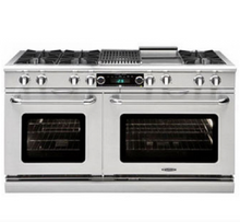 "Capital COB604B4 Connoisseurian 60"" Dual Fuel Self Clean Range 8 Open Burners With 5.4 Cu. Ft. Convection Oven + 12"" BBQ Grill"