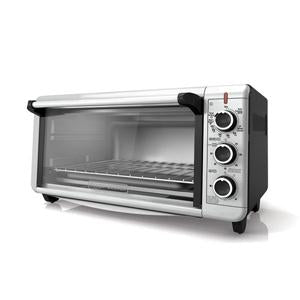 Black & Decker TO3240XSBD Convection Toaster Oven Extra Wide 8-Slice 1500W - Silver