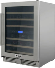 Thor 24 in. TWC2401DO Built-in Dual Zone Wine Cooler 46-Bottles.