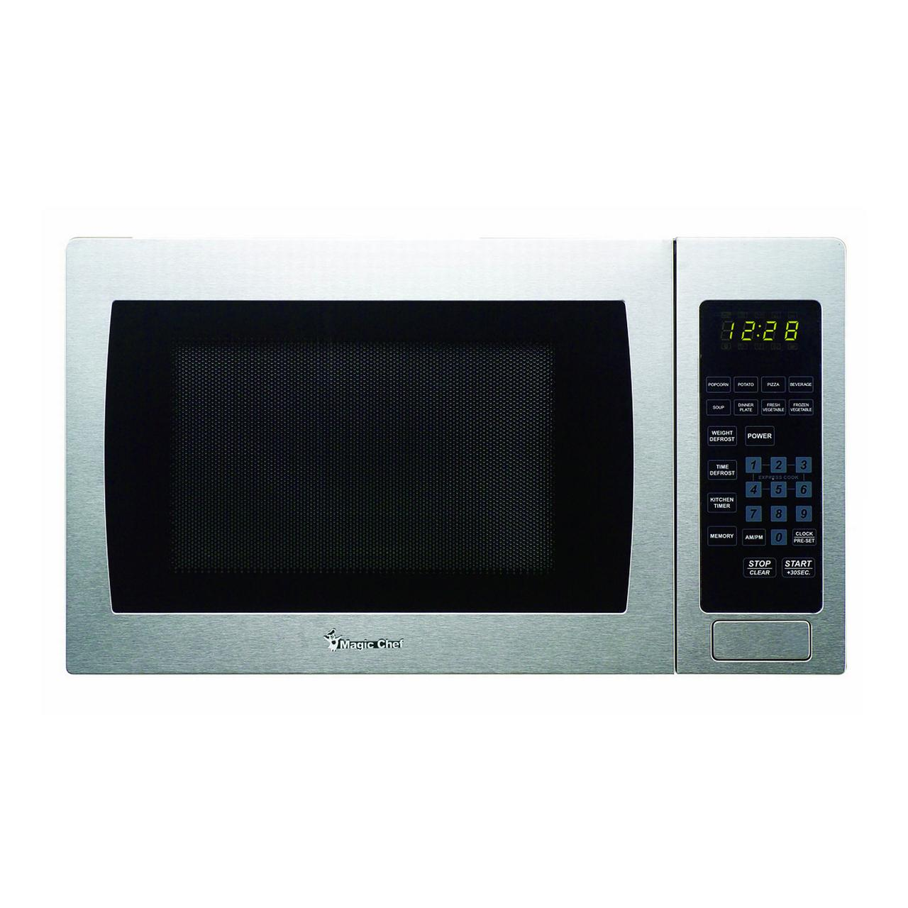 Magic Chef MCM990ST Countertop Microwave 900W - Silver