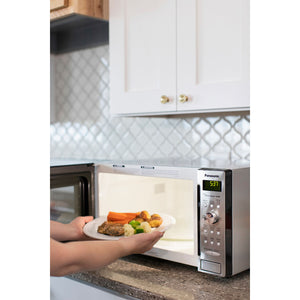 Panasonic NN-SD745S 1250W Countertop Microwave With Sensor Cooking Inverter Technology - Stainless Steel