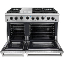 "Thor LRG4801U 48"" Double Oven Professional Gas Range Stainless Steel 6.8 Cu. Ft."
