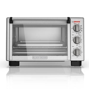 Black & Decker TO2055S Convection Toaster Oven 6-Slice With Built-In Timer 1350W - Black