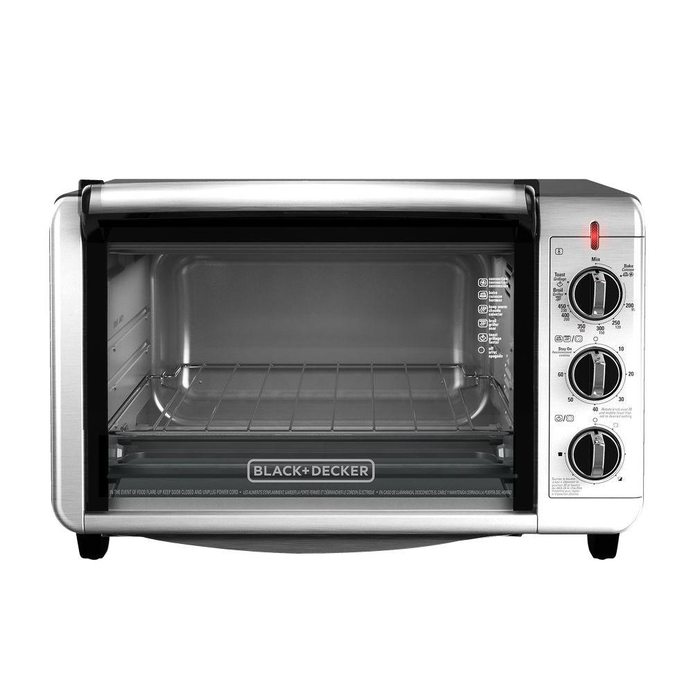 Black & Decker TO3230SBD Convection Toaster Oven 6-Slice - Silver