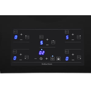 "Thor Kitchen 36"" Glass Induction Cooktop in Black with 5 Elements (HIC3601)"