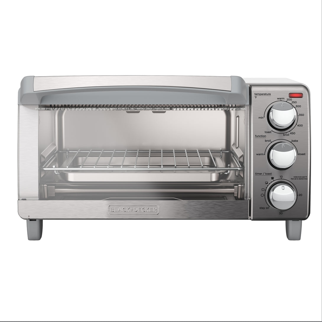 Black & Decker TO1760SS Convection Toaster Oven 4-Slice - Silver