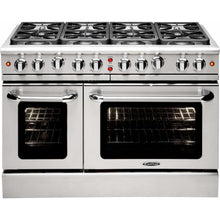 "Capital Ranges Capital 48"" Precision Series Freestanding Natural Gas Range with Manual Clean 7.6 cu. ft. 8 Sealed Burners MCR488"