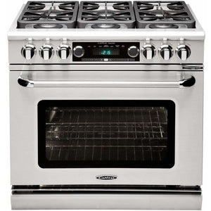 "Capital Ranges Capital Connoisseurian 36"" Stainless Steel Gas Sealed Burner Range Convection & ADA Compliant CSB366N"