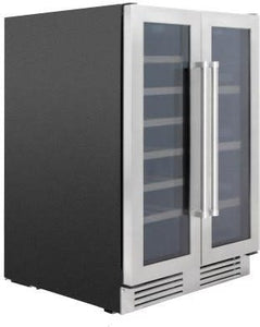 Thor 24in. TBC2401DI Dual Zone Wine Beverage Center 21 Bottles & 95 Cans.