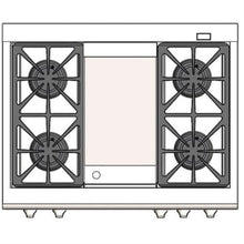 "Capital CSB362G2 Connoisseurian 36"" Dual Fuel Self Clean Range 4 Sealed Burners With 5.4 Cu. Ft. Oven + 12"" Thermo-Griddle"