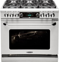 "Capital CSB362B2 Connoisseurian 36"" Dual Fuel Self Clean Range 4 Sealed Burners With 5.4 Cu. Ft. Oven + 12"" BBQ Grill"