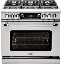 "Capital CSB366 Connoisseurian 36"" Dual Fuel Self Clean Range 6 Sealed Burners With 5.4 Cu. Ft. Oven"