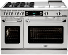 "Capital CSB484B2 Connoisseurian 48"" Dual Fuel Self Clean Range 6 Sealed Burners With 5.4 Cu. Ft. Oven + 12"" BBQ Grill"