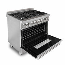 "ZLINE 36"" Single Dual Fuel Range Stainless Steel DuraSnow Door 4.6 cu. ft. RA-SN-36"