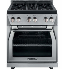 "Forza Ranges Forza 30"" Freestanding Natural Gas Range Stainless Steel FR304GN"