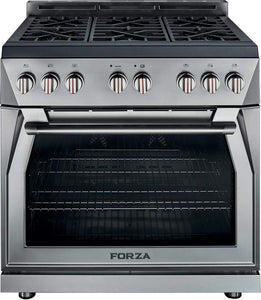 "Forza Ranges Forza 36"" Freestanding Natural Gas Range Stainless Steel FR366GN"