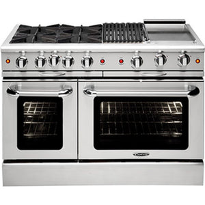 "Capital MCOR484BB Culinarian 48"" Freestanding Gas Range With 4 Open Burners, Oven + 24"" BBQ Grill"