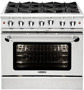 "Capital MCOR366 36"" Freestanding Gas Range With 6 Open Burners 4.9 Cu. Ft. Oven"