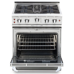 "Capital CGSR304 Culinarian 30"" Self Clean Gas Range with 4 Open Burners + 4.1 Cu. Ft. Convection Oven"