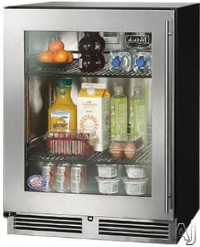 Perlick HA24RB-3-3L 24-Inch Built-In Undercounter Refrigerator With Stainless Steel Glass Door - 4.8 Cu. Ft.