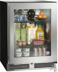 Perlick HA24RB-3-4L 24-Inch Built-In Undercounter Outdoor Refrigerator Drawers With Panel Ready Glass Door - 4.8 Cu. Ft.