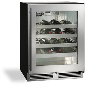 Perlick HA24WB-3-4L 24in ADA Compliant Built-in Undercounter Wine Reserve 40 Bottle Capacity 4.8 Cu. Ft.