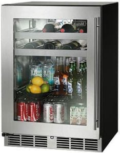 Perlick HC24BB-3-3L 24-Inch Built-In Undercounter Beverage Center 16 Wine Bottle With Stainless Steel Glass Door - 5.2 Cu. Ft.