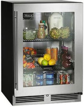 Perlick HC24RB-3-3L 24-Inch Built-In Undercounter Refrigerator With Stainless Steel Glass Door - 5.2 Cu. Ft.
