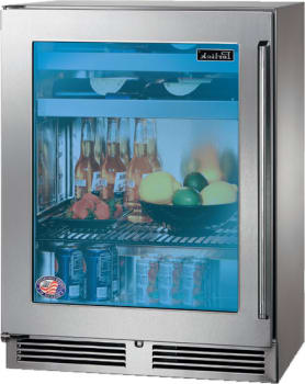 Perlick HH24BS-3-4L 24-Inch Built-In Beverage Center 10 Wine Bottle Capacity With Panel Ready Glass Door - 3.1 Cu. Ft.