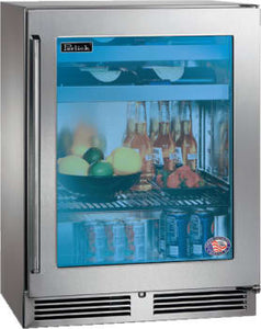 Perlick HH24BS-3-3L 24-Inch Built-In Beverage Center 10 Wine Bottle Capacity With  Stainless Steel Glass Door - 3.1 Cu. Ft.