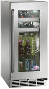 Perlick HP15BO-3-4L 15-Inch Built-In Undercounter Outdoor Beverage Center With  Panel Ready Glass Door - 2.8 Cu. Ft.