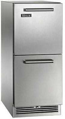 Perlick HP15RS-3-6 15-Inch Built-In Undercounter Refrigerator Drawers Panel Ready - 2.8 Cu. Ft.