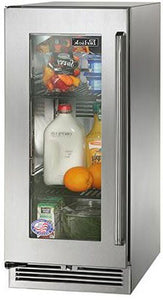 Perlick HP15RS-3-3L 15-Inch Built-In Undercounter Refrigerator With Stainless Steel Glass Door - 2.8 Cu. Ft.