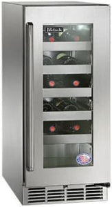 Perlick HP15WS-3-3L 15in Built-in Undercounter Wine Reserve 20 Bottle Capacity 2.8 Cu. Ft.