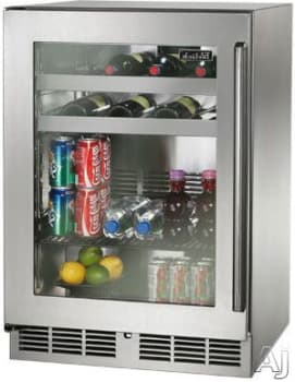 Perlick HP24BS-3-4L 24-Inch Built-In Undercounter Beverage Center 16 Wine Bottle Capacity With Fully Integrated Glass Door - 5.2 Cu. Ft.