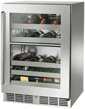 Perlick HP24DS-3-3L 24in Built-in Undercounter Dual-Zone Wine Reserve With Stainless Steel Glass Door 32-Bottle Capacity 5.0 Cu. Ft.