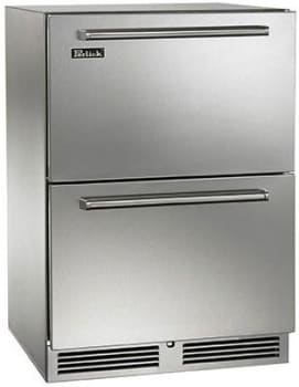 Perlick HP24FS-3-6 24in Built-in Undercounter Freezer Drawers With Fully Integrated Door 5.2 Cu. Ft.