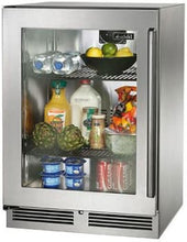 Perlick HP24RS-3-4L 24-Inch Built-In Undercounter Refrigerator With Fully Integrated Glass Door - 5.2 Cu. Ft.