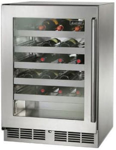 Perlick HP24WS-3-4L 24in Built-in Undercounter Wine Reserve With Panel Ready Glass Door 45 Bottle Capacity 5.2 Cu. Ft.