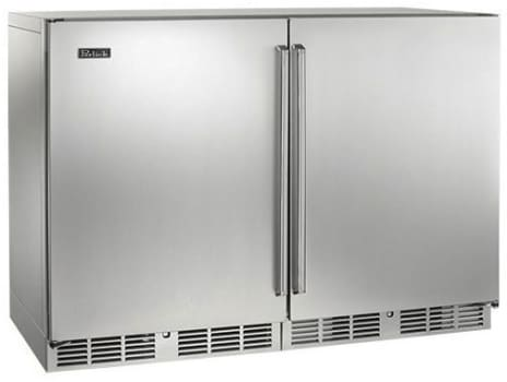 Perlick  48in Built-in Undercounter Dual Temperature Wine Reserve 80 Bottle Capacity 11.7 Cu. Ft. HP48WW-S-3-2L-2R