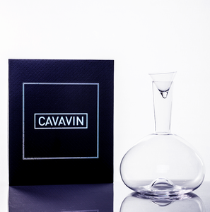 Cavavin CAV-0373 Crystal Decanter With Small Tester Glass - 750 ML
