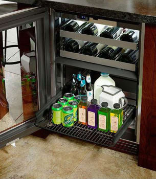 Perlick HP24CO-3-4L 24in Outdoor Undercounter Refrigerator and Wine Reserve 14 Bottle Capacity 5.0 Cu. Ft.