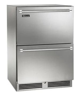 Perlick HP24ZS-3-5 24in Undercounter Freezer-Refrigerator Drawers With Stainless Steel Door Dual Temperature Zone 5.0 Cu. Ft.