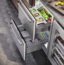 Perlick HP24ZS-3-6 24in Undercounter Freezer-Refrigerator Drawers With Fully Integrated Door Dual Temperature Zone 5.0 Cu. Ft.
