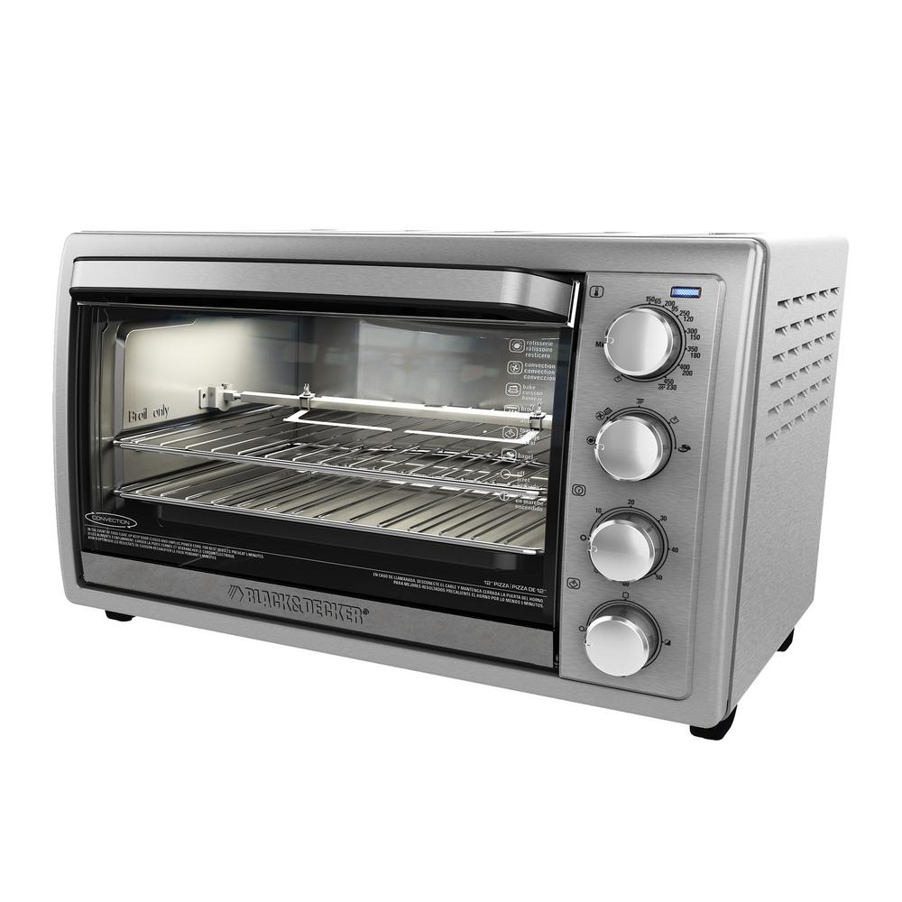Black & Decker TO4314SSD Rotisserie Convection Toaster Oven 9-Slice With Temperature Control - Silver