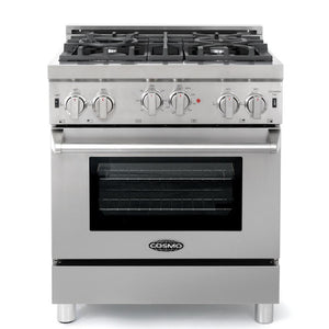 Cosmo 2 Piece Kitchen Appliance Package - Gas Range And Range Hood COS-GRP304/QB75