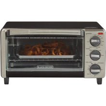 Black & Decker TO1705SB Convection Toaster Oven Temperature Control 4 Slice - Stainless Steel