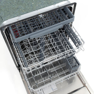 "Cosmo 24"" Top Control Built-In Dishwasher in Fingerprint Resistant Stainless Steel, 45 dBA. COS-DIS6502"