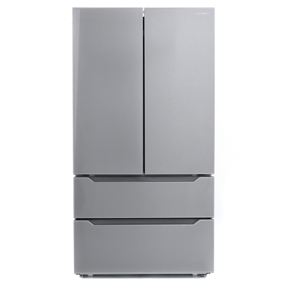 Cosmo 22.5 cu. ft. 4-Door French Door Refrigerator with Recessed Handle in Stainless Steel, Counter Depth FDR225RHSS